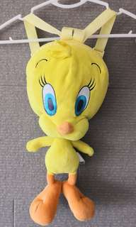 PRELOVED MOVIE WORLD Tweety Bird Stuffed Toy Backpack - in excellent condition