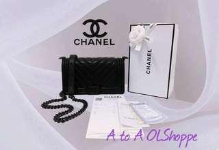 Chanel le boy black