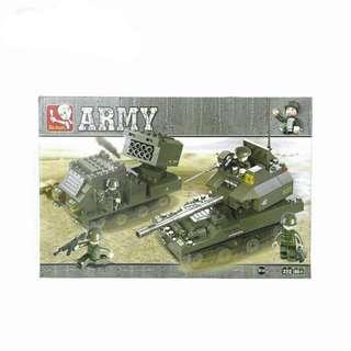 SLUBAN Army Building Block (403 Pcs)