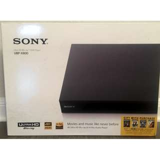 Sony UHD Blu Ray Player UBP-X800