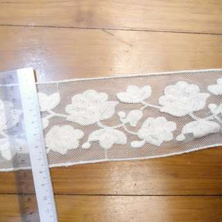 [Roll] Cotton Floral Ecru Colour Kinariiro Lace Trim