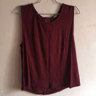 Wine Red Tank Top