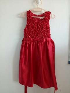 Red Dress - 2-3 yrs old - worn once