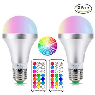 848. NetBoat LED Color Changing Light Bulb with Remote Control,10W E26 RGB+Daylight White LED Bulbs Dimmable with Memory Function,Ideal Lighting for Home Decoration,Stage,Bar,Party,2-Pack