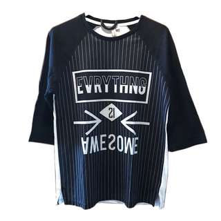 Penshoppe 3/4 Everything is Awesome Top
