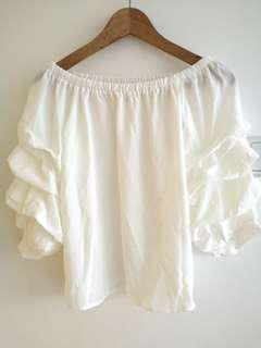 #blessing Free 🎁 to bless brand new White Off Shoulder Top