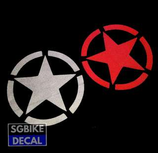 Miliatry Star Reflective Decal