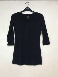 G2OOO Navy Blue Stretchable Blouse