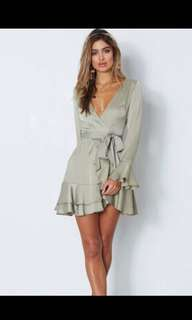 Meant to be mini dress- Olive