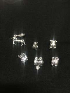 Authentic Pandora Animal charms