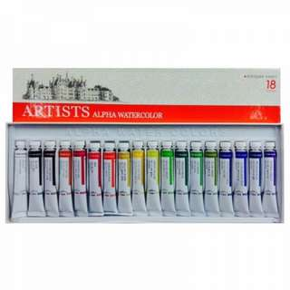 Alpha Watercolor 18 colors Set
