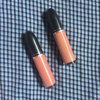 MAC Back in vogue & Lady-be-good liquid matte lipsticks