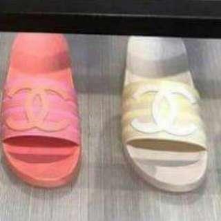 Chanel 粉紅拖鞋 (size: 36)