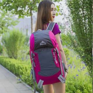 Cleverbees Waterproof Foldable 35L Travel Hiking Backpack Bag