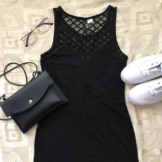 H&M Divided Black Fitted Dress