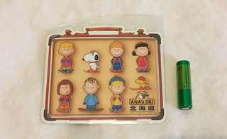Snoopy peanuts ANA's ski 北海道貼紙(絶版)