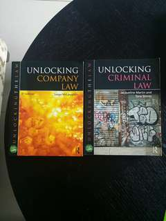 Unlocking Criminal Law & Unlocking Company Law