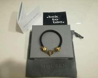Alexander McQueen Black T-Bar Skull Bracelet