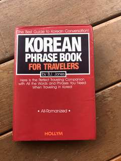 Korean Phrase Book for Travellers