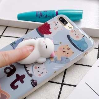 Cat squishy phone casing