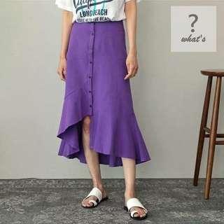 🚚 Korea 🇰🇷 排扣不規則造型魚尾長裙