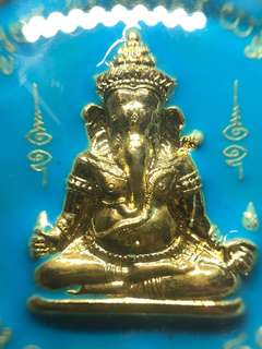 ✅ Thai Amulet - Rian Phra Pikanet Lang 9 Deva Thep Maha Jakapat - Blue LongYa Edition - Ganesha - Thai Amulets