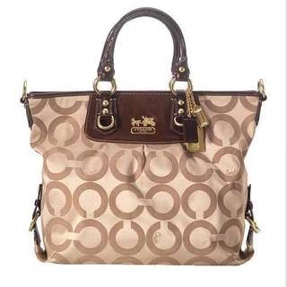 💯COACH Madison Op Art Julianne Tote #F0869-12963