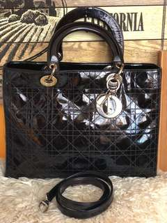 100% authentic Lady Dior Large. 80% new