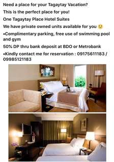One Tagaytay Place Hotel Suites FOR RENT