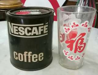 antik nescafe tin