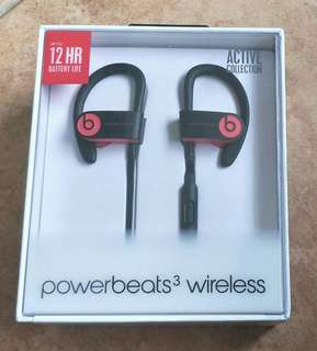 Brand New Sealed Powerbeats 3 Wireless Siren Red