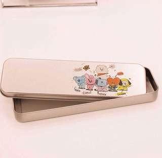 BT21 BTS Aluminium / Metal Pencil Case Pencil Box