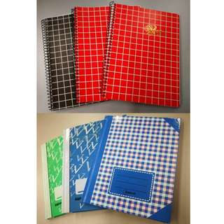 Hard Cover and Ring Notebooks