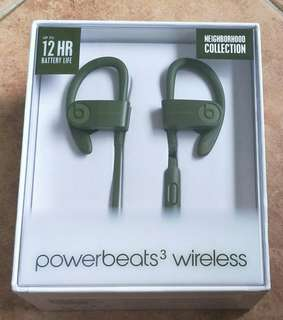 Brand New Sealed Powerbeats 3 Wireless Green