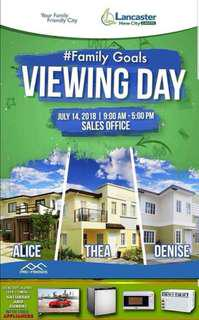 Viewing day promo: 1st dp discount + appliances