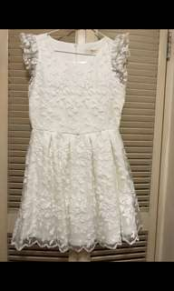 全新韓國女裝白色連身裙 (Free Size, Made in Korea) #2bdaysale