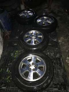 Stock subaru mags size 15 with tires
