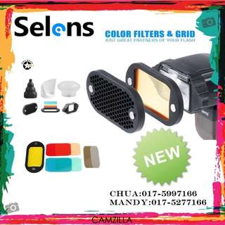 Selens 6 in 1 Universal Honeycomb Grid Set Diffuser Accessories Flash Magnet