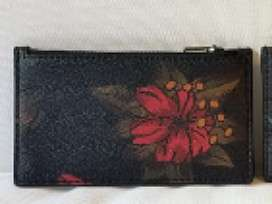 COACH Hawaii Floral Card Holder (Red Floral)