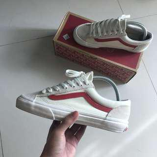 (US6)Vans Style 36 G-Dragon Marshmallow/Racing Red
