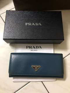 Prada Vernice Leather Wallet