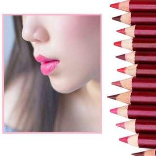 🦋12Pcs Waterproof Makeup Matte Lipstick Lip Liner Pencil🦋
