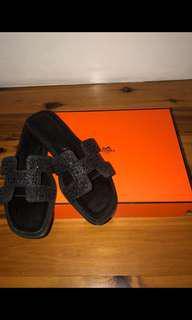 Hermès flip flop slides