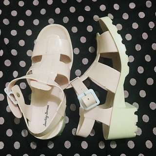 Jelly Caged Platform Block Heels