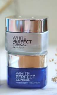 Loreal white perfect clinical day and overnight cream