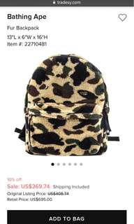 Bathing Ape Fur Backpack