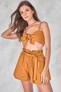 COPPER Tie Top and Shorts Set
