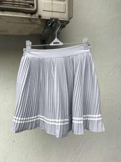 Grey Tennis Pleated Skirt
