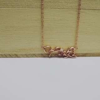 925 silver diy 3D name necklace
