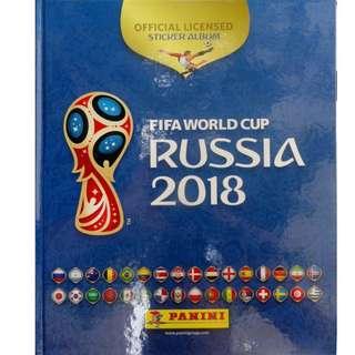 PANINI 2018 FIFA WORLD CUP RUSSIA HARD COVER STICKER ALBUM
